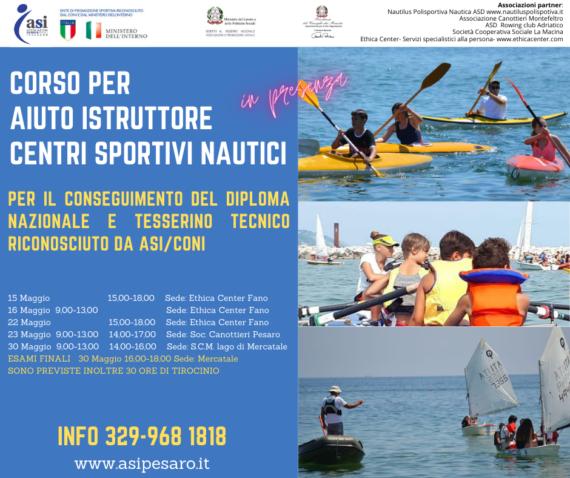 Corso di Formazione per Aiuto Istruttore Centro Sportivo Nautico